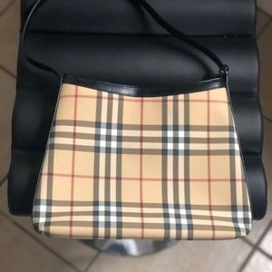 Authentic Burberry shoulder tote